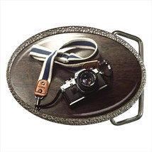Photography Camera Hobby Chrome Finished Belt Buckle - $9.65