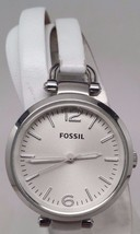 Fossil Georgia Stainless Steel Leather Ladies Watch ES3246 Defective Movement - $16.12
