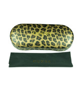 Guess Hard Clamshell Case Animal Print Sunglasses Case Cleaing Cloth - NEW - $9.89
