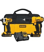 DeWALT DCK240C2 20v Lithium Drill Driver/Impact Combo Kit 1.3Ah Dads Day... - $271.75