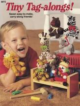 Tiny Tag Alongs, Crochet Catalog Pattern 88T2 Toy Clown Lion Horse & Mor... - $12.95