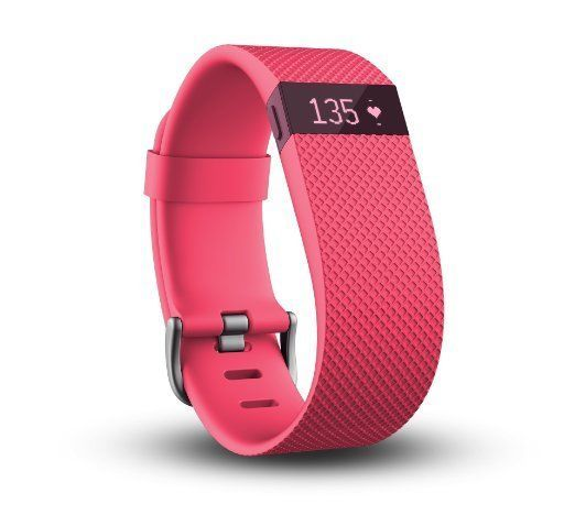 Fitbit Charge HR Wireless Wristband 5 Colors Black Blue Pink Plumb Tangerine LRG