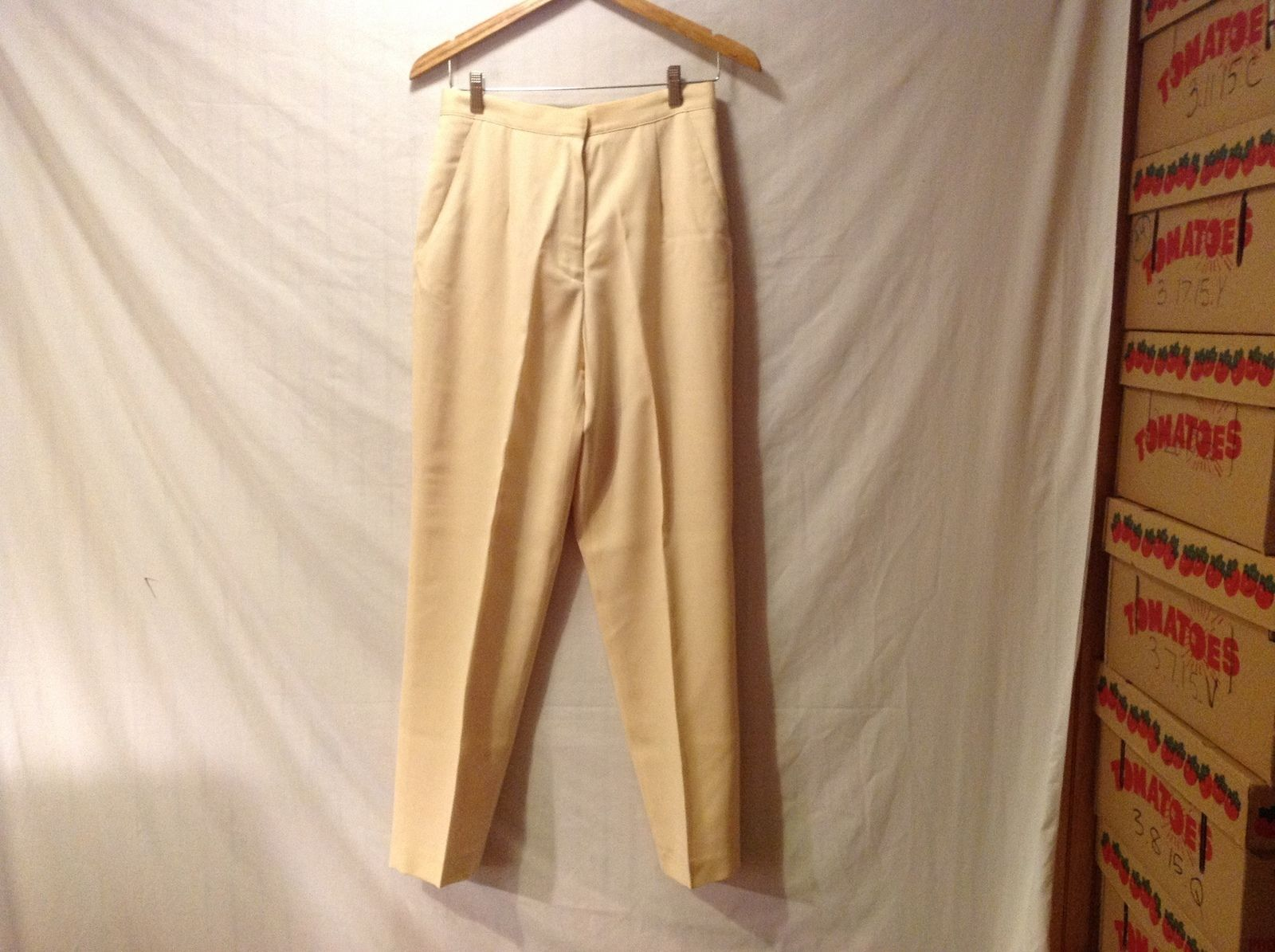 CW Womens Pale Yellow Dress Pants  Size 10