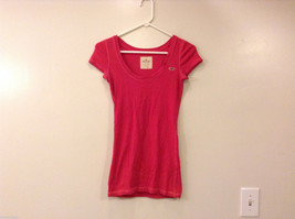 Hollister Stretch Pink Deep Scoop Neck T-Shirt, Size M, Cotton / Spandex