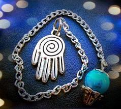 Spiral Psychic Hand Turquoise Dowsing Pendulum - $20.00