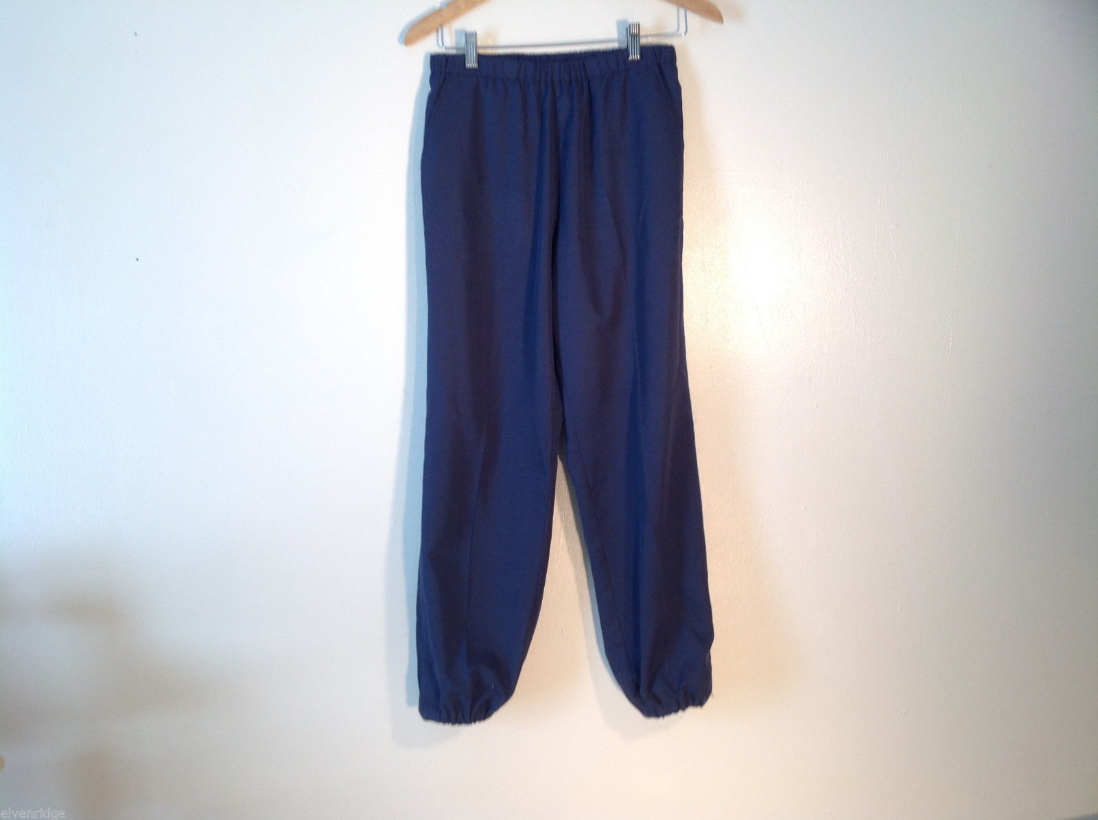 Mens Tail Size M Navy Blue Track Pants Elastic Waist Excellent