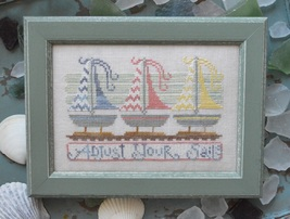 Adjust Your Sails To The Beach Series #3 cross stitch chart Hands On Design - $5.40