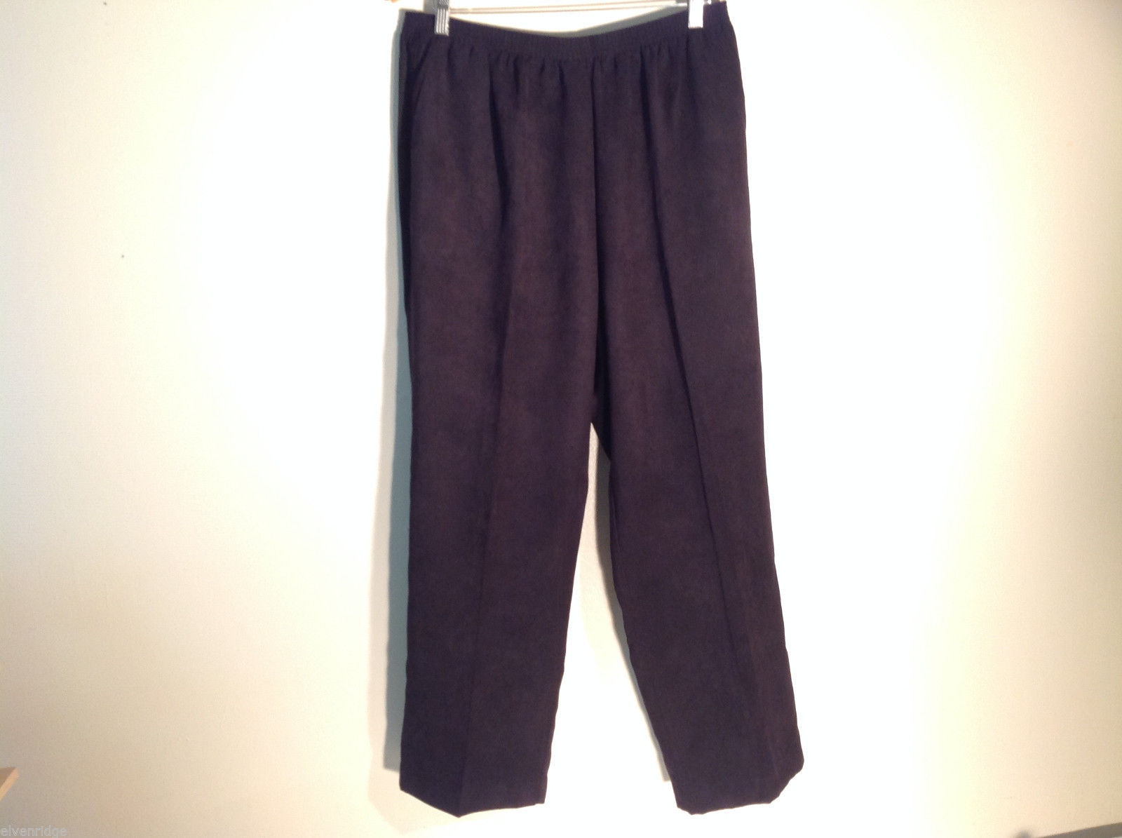 Womens Alfred Dunner Size 18W Black Slacks Stretchy Waist Excellent