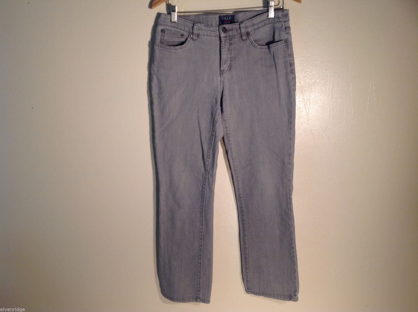 Womens Chaps Denim Petite Jeans Size 8P Gray Great
