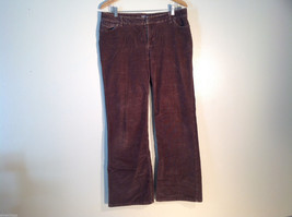 Womens J. Jill Stretch Brown Corduroy Pants, Good Condition Size 14