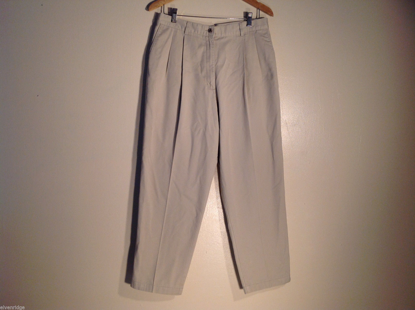 Womens L.L. Bean Size 14 White Pants/Slacks Great