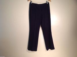 Womens Josephine Chaus Size 4P Black/Dark Blue Casual Dress Pants Excellent