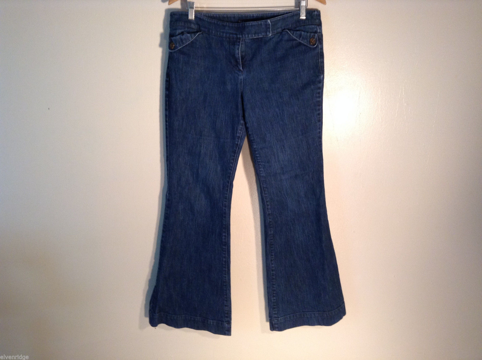 Womens NY & Co Blue Denim Jeans Size 12 98% cotton 2% spandex excellent
