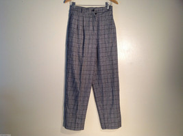 Womens Sag Harbor Size 8 Houndstooth Wool-blend Pants Excellent