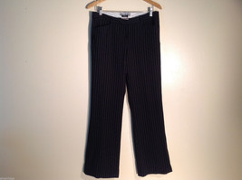 Womens Star City Black Pinstriped Casual/Dress Pants Size 9 Excellent