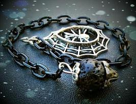 Lava Rock Spider Dowsing Pendulum - $20.00