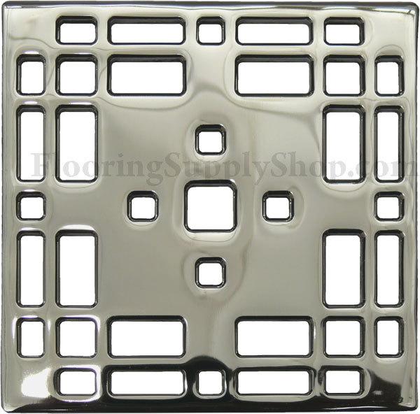 Ebbe Unique Square Shower Drain Brushed Nickel - Craftsman