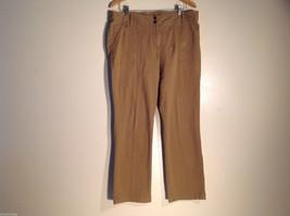 Womens White Stag Size 14 Light Brown Pants/Slacks Denim-like Great