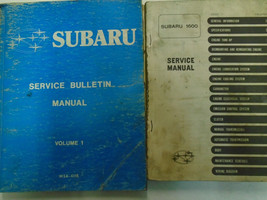 1977 Subaru 1600 Service Repair Shop Manual Set FACTORY OEM BOOKS Used Damaged - $32.62