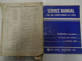 1982 Subaru 1600 1800 Service Repair Shop Manual Set FACTORY OEM BOOKS Damaged - $38.56