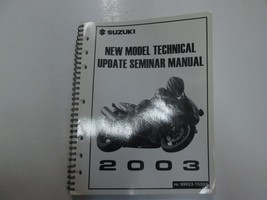 2003 Suzuki New Model Technical Update Seminar Manual FACTORY OEM BOOK 03 *** - $16.82