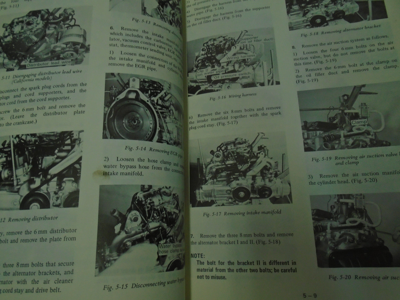 1977 Subaru 1600 Service Repair Shop Manual Set FACTORY OEM BOOKS Used Damaged