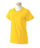 Daisy Yellow Small  G2000L Gildan Women ultra cotton T-shirt   - $4.45