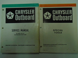 Chrysler Outboard 20 30 HP Service Repair Manual Set OEM Factory Books Used Wear - $45.49
