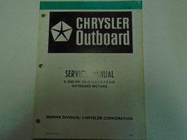 Chrysler Outboard 6 & 7.5 HP Sailor 150 Service Repair Manual OEM Factory Book - $39.55