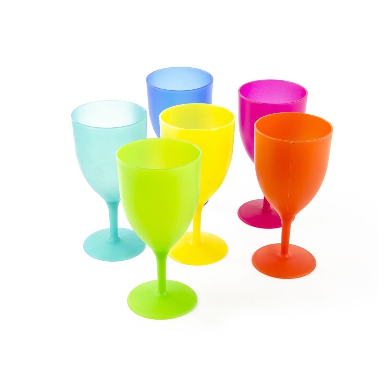 Plastic wine glasses goblet