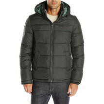 NEW TOMMY HILFIGER BLACK ULTRA LOFT INSULATED HOODED PUFFER JACKET COAT ... - $115.00