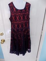 Bonnie Jean Navy Blue/Terra Cotta Dress Size 16 Girl's EUC - $17.94