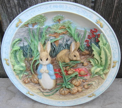 Bradford Exchange First Issue Tale of Peter Rabbit and Benjamin Bunny Plate 1996 - $35.00