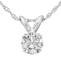 1/4ct Round Solitaire 14K White Gold Diamond Pendant - $127.70
