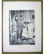 AFRICA Sudan Scenery in Barber Shop - 1880s Pho... - $17.82
