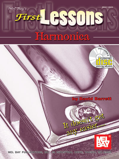 First Lessons Harmonica Book w/CD Set/New