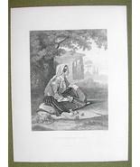MONTENEGRO Montenegrin Lady Folk Costume - 1880... - $17.82