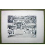 JAPAN Suwa Temple at Nagasaki - 1880s Photograv... - $23.76
