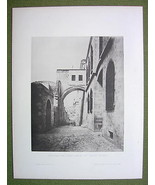 "ISRAEL Jerusalem Arch of ""Ecce Homo"" - 1880s Ph... - $17.82"