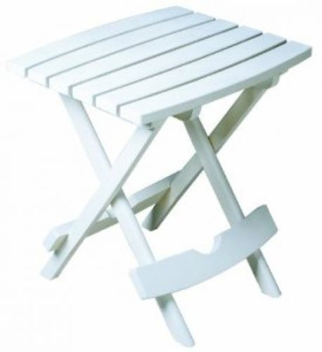 Adams Manufacturing 8500-48-3700 Quik-Fold Side Table, White