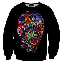 Womens Mens 3D Print Realistic Space Galaxy Animals Sweatshirt Top Jumper83 - $19.99