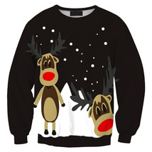 Womens Mens 3D Print Realistic Space Galaxy Animals Sweatshirt Top Jumper91 - $19.99