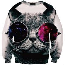 Womens Mens 3D Print Realistic Space Galaxy Animals Sweatshirt Top Jumper235 - $19.99