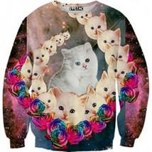 Womens Mens 3D Print Realistic Space Galaxy Animals Sweatshirt Top Jumper265 - $19.99