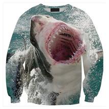 Womens Mens 3D Print Realistic Space Galaxy Animals Sweatshirt Top Jumper294 - $19.99