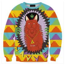 Womens Mens 3D Print Realistic Space Galaxy Animals Sweatshirt Top Jumper296 - $19.99