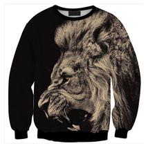 Womens Mens 3D Print Realistic Space Galaxy Animals Sweatshirt Top Jumper298 - $19.99
