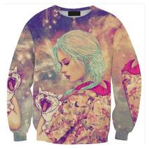 Womens Mens 3D Print Realistic Space Galaxy Animals Sweatshirt Top Jumper307 - $19.99
