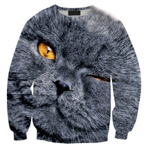 Womens Mens 3D Print Realistic Space Galaxy Animals Sweatshirt Top Jumper309 - $19.99