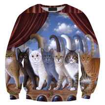 Womens Mens 3D Print Realistic Space Galaxy Animals Sweatshirt Top Jumper318 - $19.99
